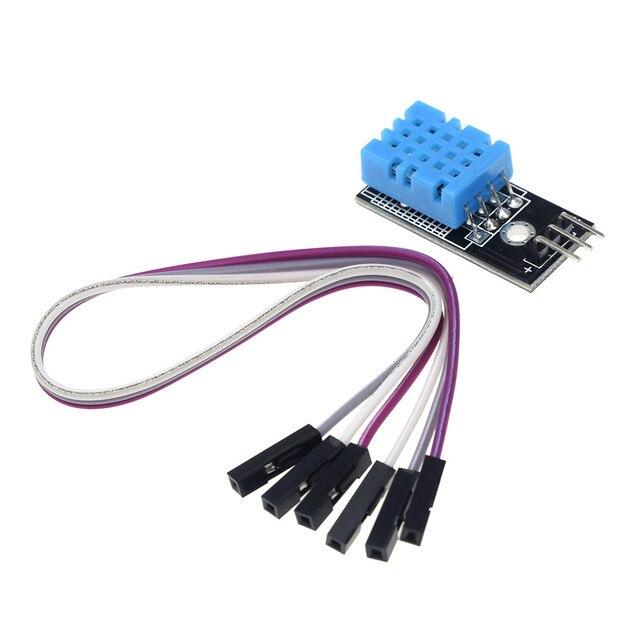 Nouvelle Température et humidité relative Capteur DHT11 Module avec Câble pour arduino kit de bricolage