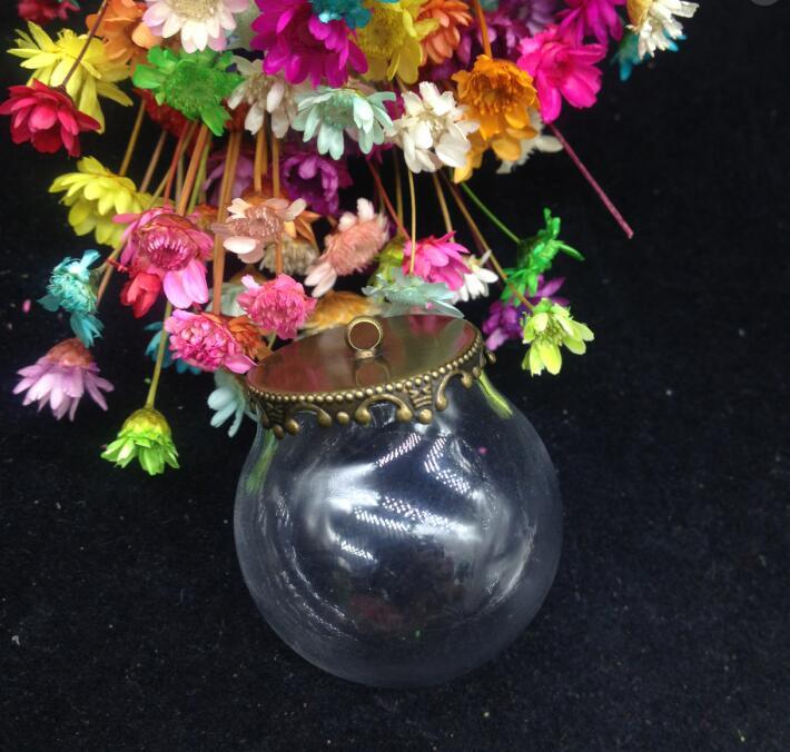 100 zestawów/partia 30*20mm szklana okrągła kula wisiorek medalion na całym świecie urok korona metalowa nakrętka otwarcia puste, które chcą butelki komponenty do biżuterii DIY w Wisiorki od Biżuteria i akcesoria na  Grupa 3