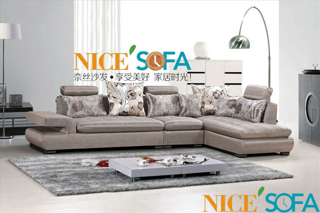 Turco moderno tejido muebles grises sofá 1035A # en Sofás de Sala de ...