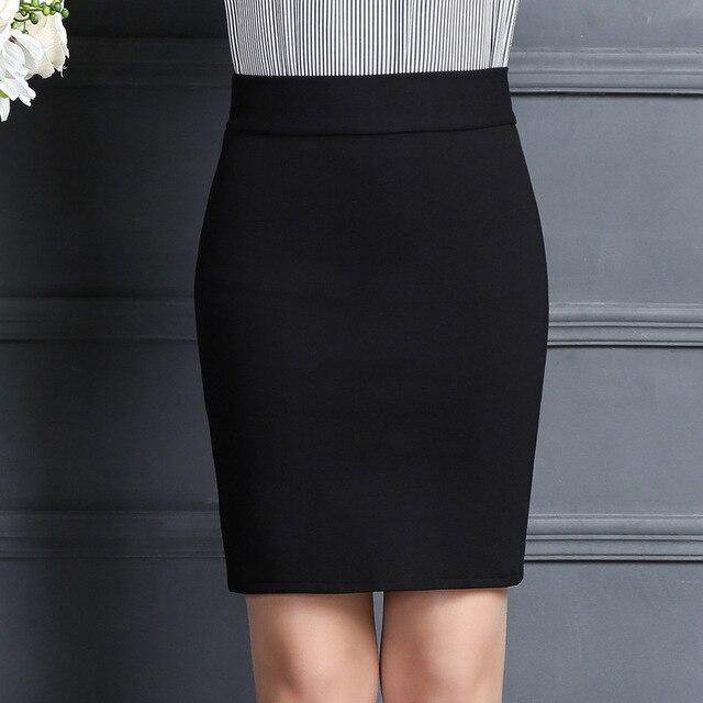 2019 New Women Skirt Work Fashion Stretch Slim High Waist Pencil Skirt Bodycon Sexy Mini Office Work Skirt Free Shipping 1