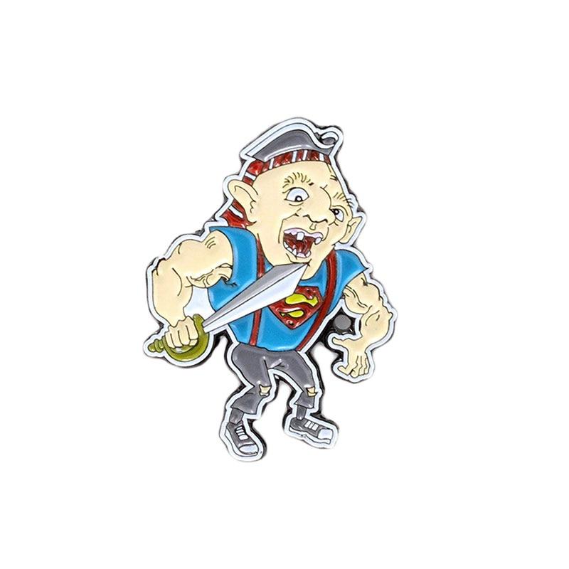 Эмалированная булавка Super lloth goones в стиле ретро, 80С, значок в стиле фильма ужасов, забавная брошка в стиле «Гадкий человек», классный Декор
