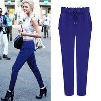 Banulin High Quality High Material Elastic Plus Size Women Haren Pants Little Feet Trousers Female Casual