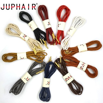 JUPHAIR Thin Waxed Cotton Shoelaces Round Gold Metal Head Waxing Shoelace Dress Leather Shoes Strings Boot Sport Shoe Laces juphair thin waxed cotton shoelaces round gold metal head waxing shoelace dress leather shoes strings boot sport shoe laces