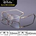 Marca genuína high-end armações de óculos mens pure titanium full frame mens caixa de armações de óculos de prescrição óculos 8275