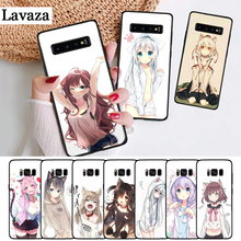 Lavaza cartoon the anime kawaii Girl Cat Silicone Case for Samsung S6 Edge S7 S8 Plus S9 S10 S10e Note 8 9 10 M10 M20 M30 M40