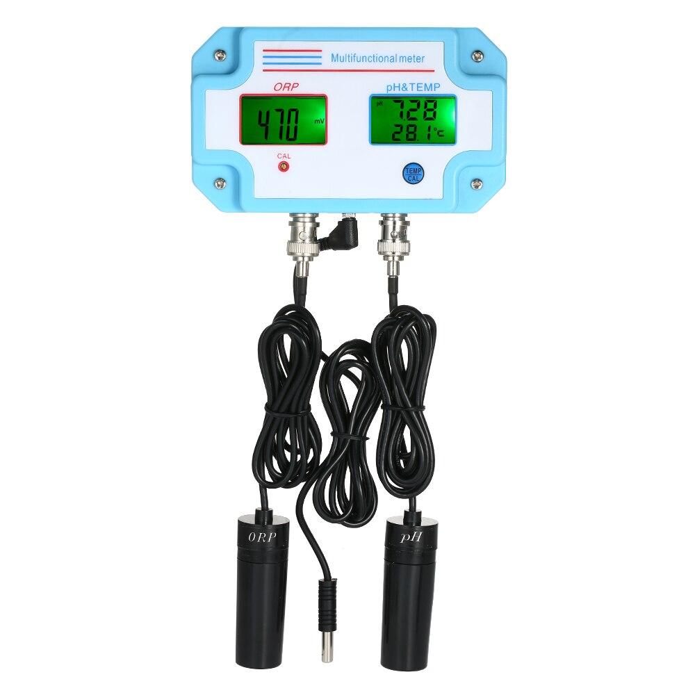 3 in 1 pH/ORP/TEMP Meter Qualità Dell'acqua Monitor Digitale LCD Tri-Meter Multi-funzione rilevatore di Tester per il suolo-trasporto crescere acquario