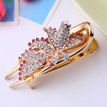 2017 Hot sale Trendy Hairwear Women Accessories Wedding Bridal Crystal Rhinestone Flower Faux Pearls Hairpins Hair Comb Jewelry