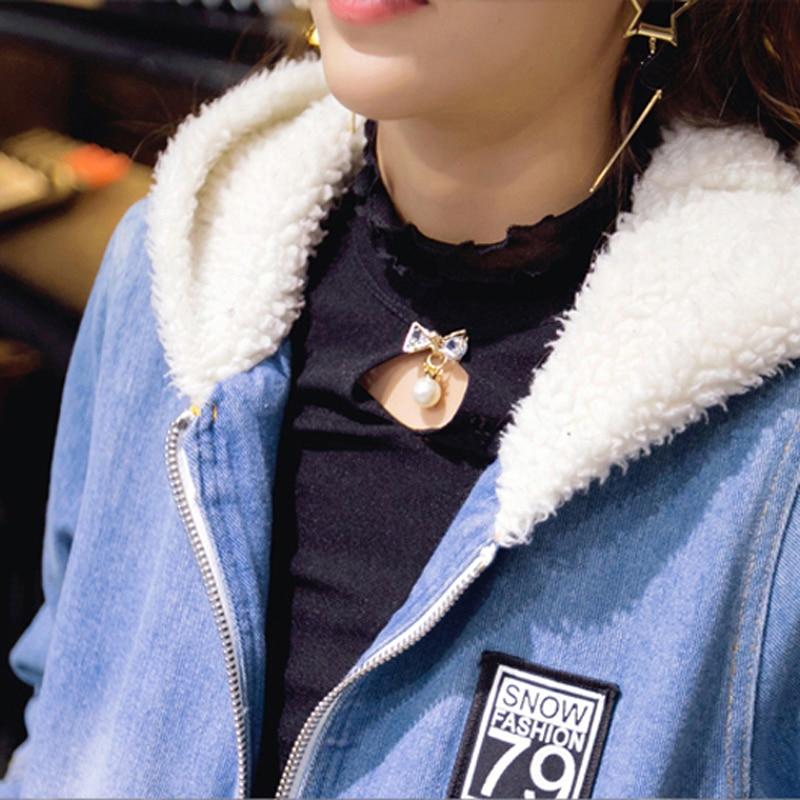 Épaissir Mince Manteaux En Capuche Veste Chaud Nouvelle 2019 Vestes Manteau Femmes Black D'hiver blue Bomber À Automne Rembourré 611 Jean Outwear zpMGLqUVS