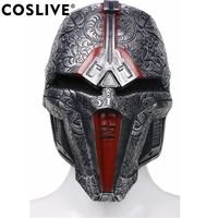 Coslive 2019 Halloween Movie Cosplay Star War Sith Acolyte Mask Adjustable Dark Gray Resin Carnival Party Cosplay Mask Props