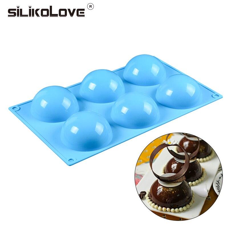 Оптовая продажа, Шариковая силиконовая форма для тортов, шоколадных конфет, DIY аксессуары для выпечки, круглый набор для помадки, инструмент...