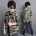 The New 2016 Movement Child Camouflage Trench Coat Boys Autumn Wear Long Sleeve Children Children's Clothes