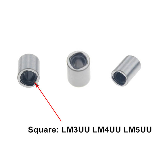4 Uds LM8UU rodamientos lineales LM3UU LM4UU LM5UU LM6UU LM10UU LM12UU LM13UU LM16UU LM20UU lineal casquillo 8mm CNC partes del eje