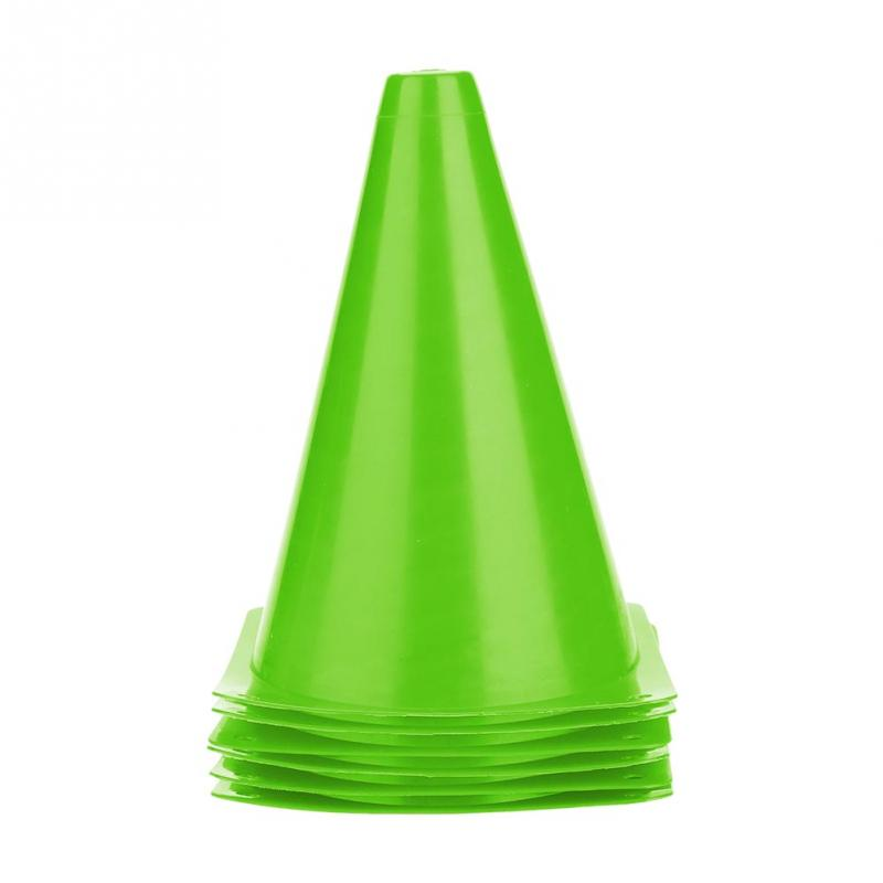 10pcs 18cm Soccer Trainning Cone Stadium Marking Agility training Marker Free Slalom Skate Pile Cup Football Training Equipment in Soccers from Sports Entertainment