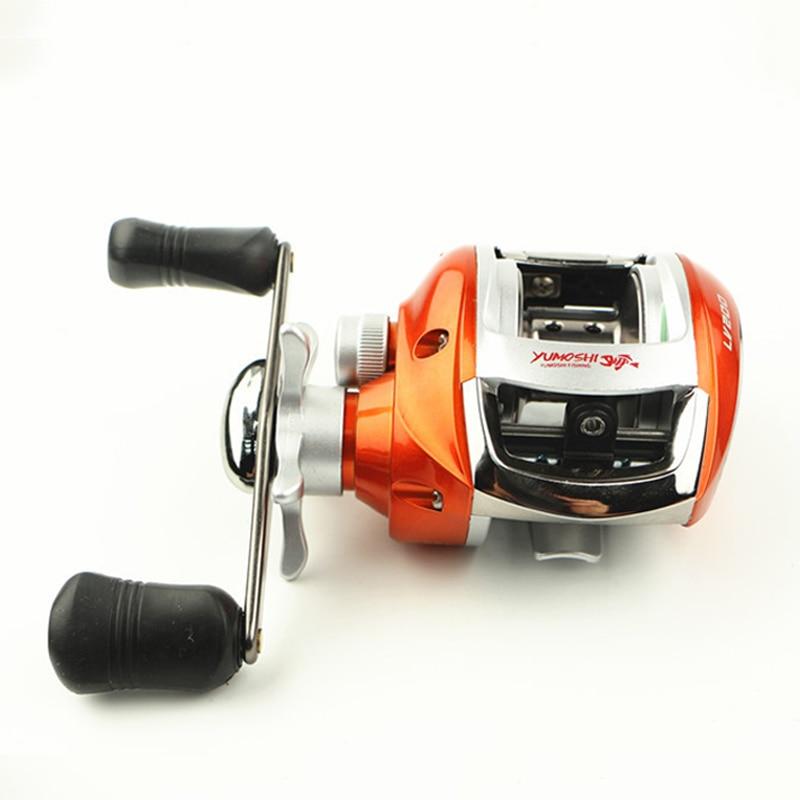 ФОТО High Speed 6.3:1 Baitcasting Fishing Reel Top Quality Water Drop wheel Right/Left Handed Lure Reel 50