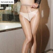 Woman Smooth Sexy Stockings Slim Shiny Female Bottoming Pantyhose Bright Tights Rajstopy Damskie