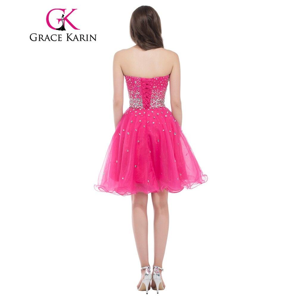 Novia longitud de la rodilla corto de color rosa oscuro Vestidos de ...