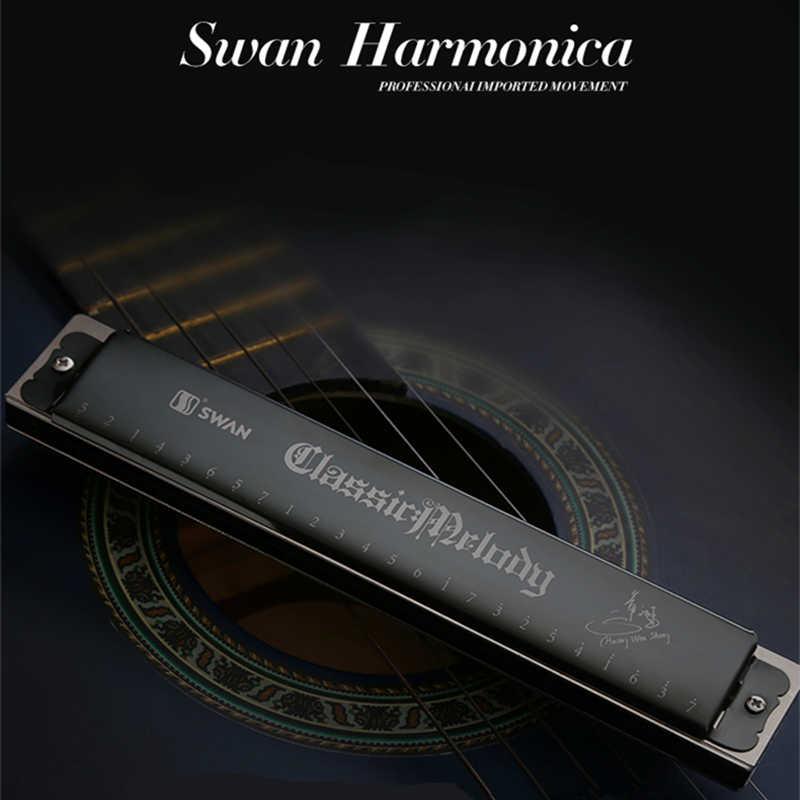 ברבור מפוחית מפתח של C גאיטה דה בוקה מפוחית עממית שחורה Armonica חורי נבל טרמולו Terapêuticos Musicales ברבור Harmonika