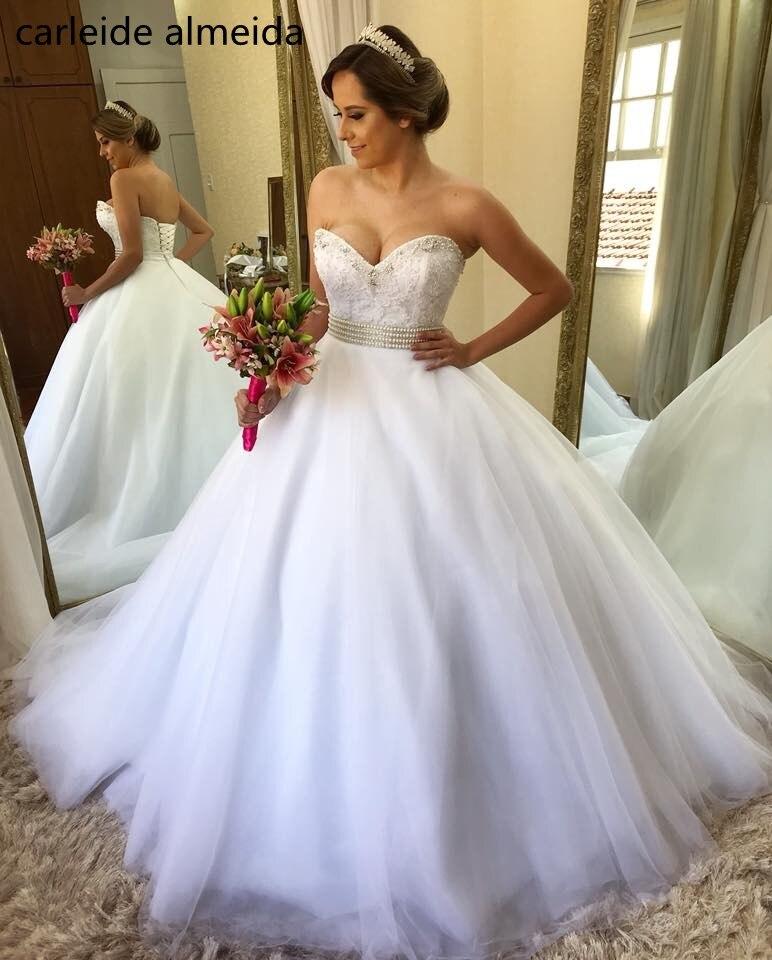 Classic Wedding Gowns 2018: Vestido De Noiva Ball Gown Princess Wedding Dress 2018