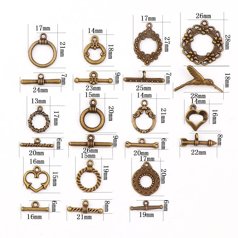 New Fashion Antique Bronze Color OT Toggle Buckle Connectors Fit Bracelet Necklace Clasps