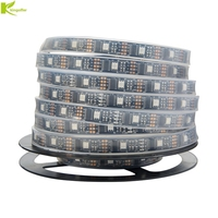 Kingoffer WS2801 DC5V Individually Addressable 32Leds/m 5050 RGB 12mm Ambilight TV Led Magic Dream Color Rope Light 5m/Roll