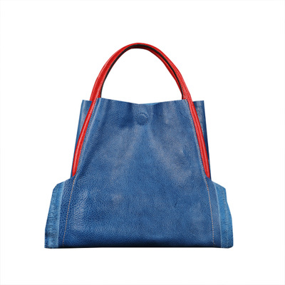 Pour Élégant 2019 Femal Emballages Femmes Vrais Sac Lady Noir En Cuir Red Épaule Black red Sacs One Bleu Main À Nouveauté Véritable blue rqaYEr