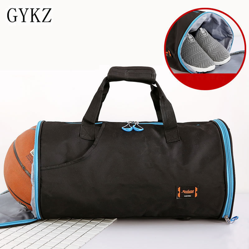 1fa426a8df GYKZ Hot Outdoor Fitness Duffle Bag Portable Basketball Bag Men Large Sport  Gym Bag Football Shoulder Bag With Shoes Pocket H176