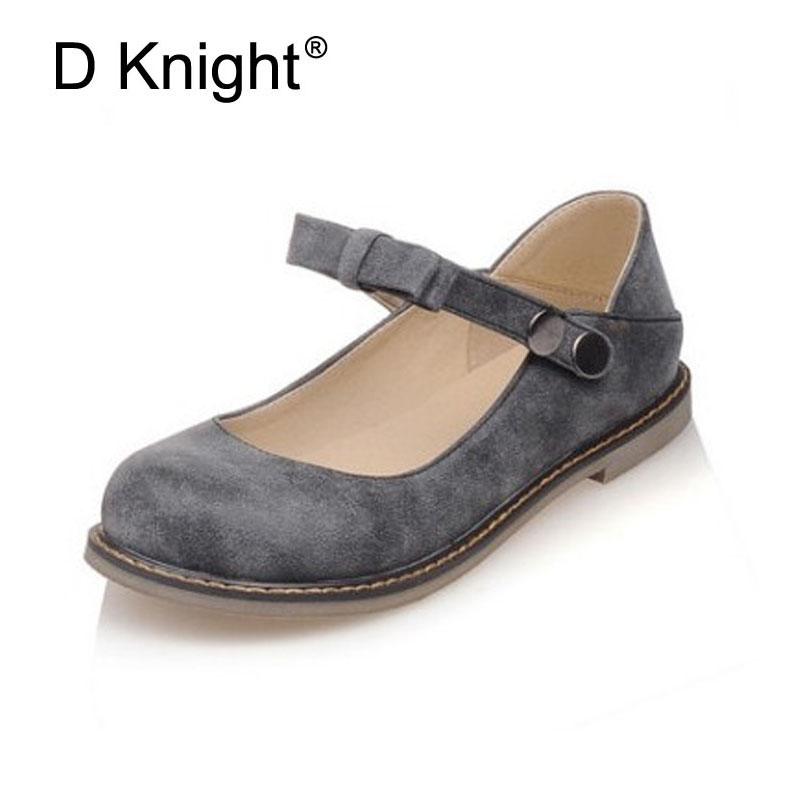 Women Flats Fashion Bow Round Toe Ankle Strap Women Mary Jane Flats Vintage Ladies Casual Flat Shoes Size 34-43 Shoes Woman women flat sandals fashion ladies pointed toe flats shoes womens high quality ankle strap shoes leisure shoes size 34 43 pa00290