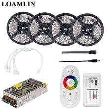 2835/3528SMD цветная(RGB) Светодиодная лента с 2,4G RGB светодиодный контроллер DC12V Питание комплект 5, 10 м, 15 м, 20 м