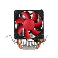 2017 Quiet 3pin Mini CPU Cooler Heatsink Fan Cooling PCCOOLER 2 Heatpipes Radiator With 80mm Fan