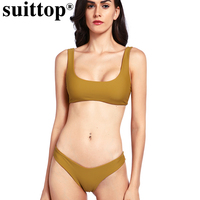 Suittop Women S Swimming Suit 2017 Bikini Swismuit Bando Thong Brazilian Bikini Set Women Swimwear