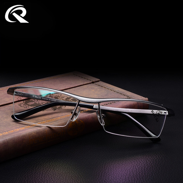 Nuevo Marco de Aleación De Magnesio Y Aluminio de Calidad Superior Para Hombre Gafas TR 90 Armas Medio Borde Gafas Marcos para Los Hombres