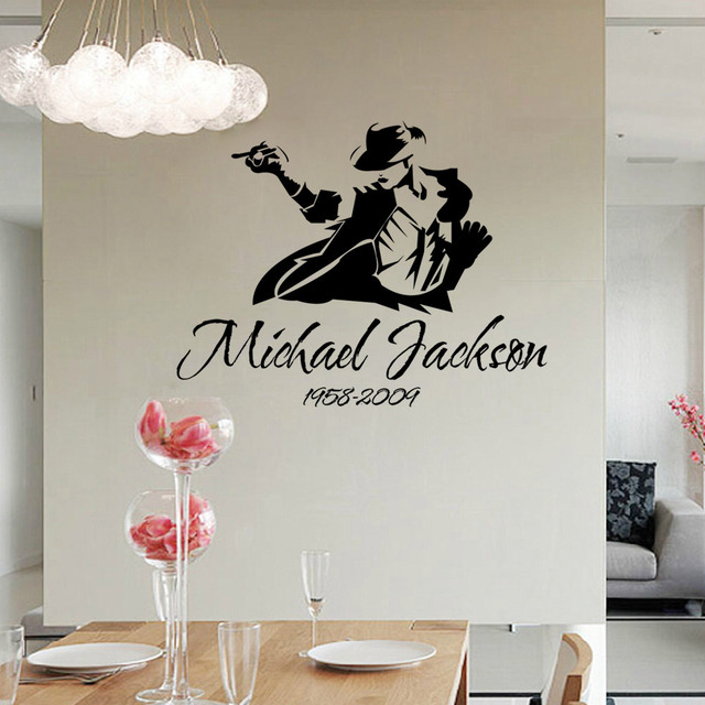 Aliexpresscom Buy Removble Michael Jackson Sketch Wall Stickers