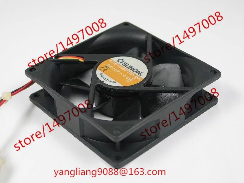 SUNON KDE1209PTBX-6A DC 12V 4.3W 90x90x25mm сервера Square Fan