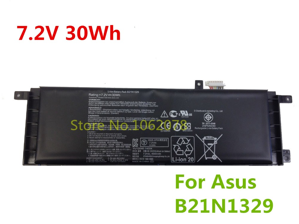 7.2V 30Wh Genuine Laptop Battery For Asus X553MA X453 B21N1329 0B200-00840000 High Quality
