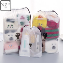 XZP Katzen Kosmetische Reise Make-Up Fall Frauen String Machen Up Bad Organizer Lagerung Pouch Kultur Wash Beaut Kit(China)