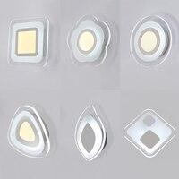 Acrílico branco conduziu a luz de parede para sala estar ao lado do quarto luminarias led arandela lâmpada parede do banheiro moderno AC85 260V|Luminárias de parede| |  -