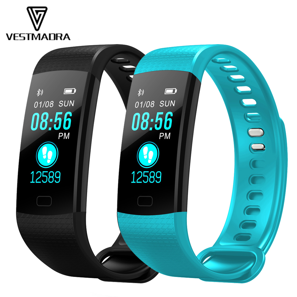 VESTMADRA Fitness Tracker Smart Band Y5 Smart pulsera impermeable Smart Wristband Smart Watch hombres PK Miband 2