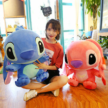 35-65cm Cartoon Stitch Plush Doll Toy Anime Lilo and Stitch Stich Plush Toy giant for Children Kid Pillow Cute Birthday Gift super long 100cm plush pillow staffed cute stitch and lio toy best gift for children girl creative birthday gift