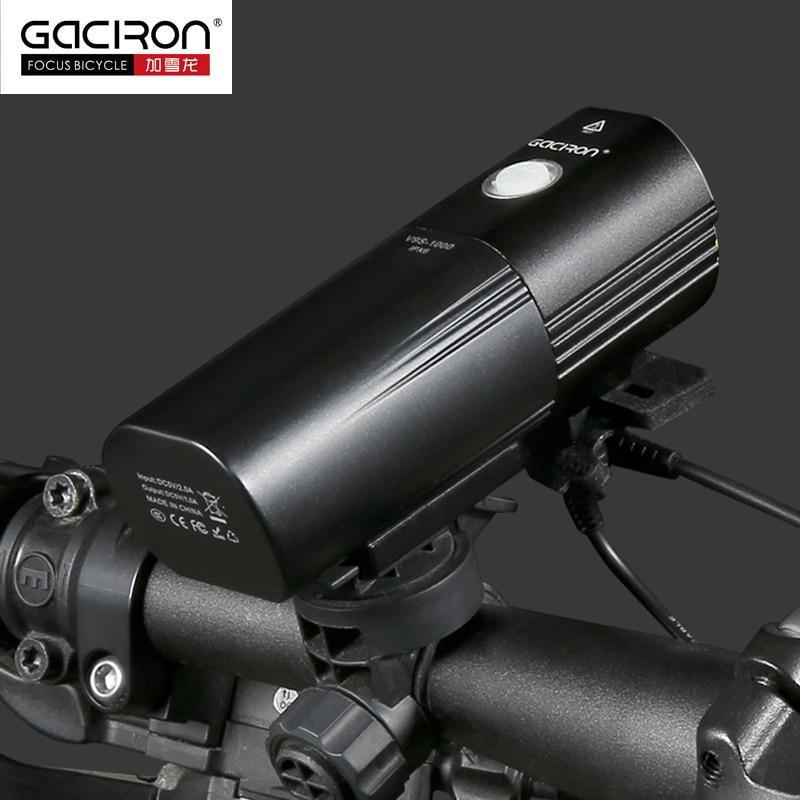 GACIRON передний руль велосипеда светильник IPX6 Водонепроницаемый светодиодный светильник USB Перезаряжаемый внешний аккумулятор флэш светильник 1000 люмен 4500 мАч 6 режимов - 6