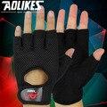 1 par deportes gimnasio medio dedo guantes antideslizante transpirable muñeca alargado guantes de pesas gimnasio mujeres hombres