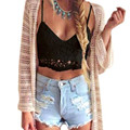 Moda 2017 mulheres sexy tanques camisoles rendas v profundo mulheres cropped tops com tiras bralette intimates underwear roupas