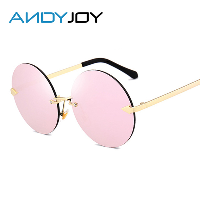 a87551dad3331 ANDYJOY Nouveau Sans Monture Cadre Clair lunettes de Soleil Flèche Grande  Taille Ronde Femelle lunettes de