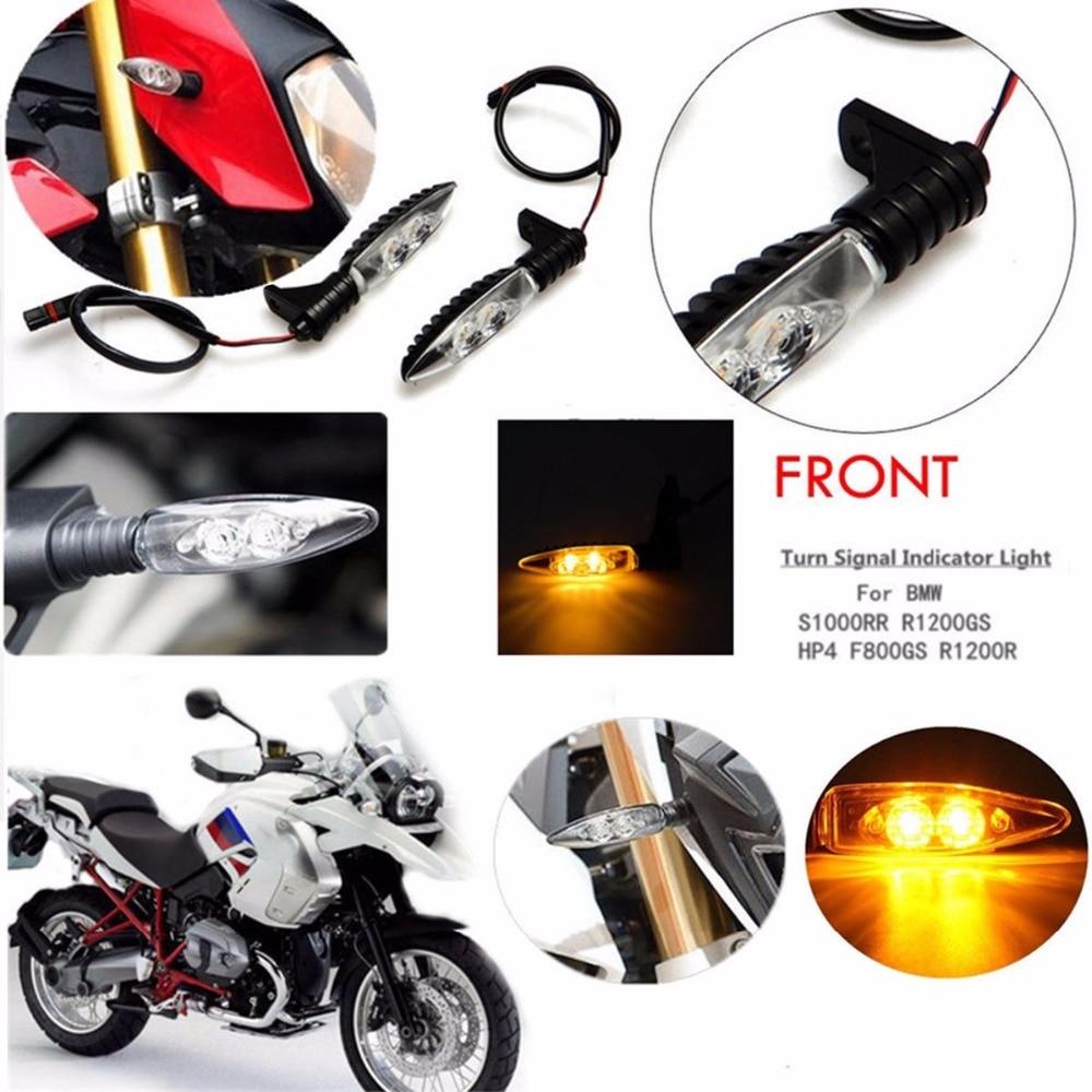 For BMW HP4 S1000R K1300R R1200GS G310R R1200RS F700 F800GS NineT Motorcycle Front or Rear LED Turn Signal Indicator Light Blink s1000rr turn led lights