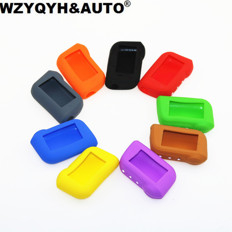 Silicone Case Cover For A93 A63 car alarm Remote controller Only A93 Silicone Case Keychain Cover with logo