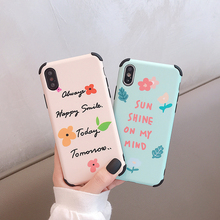 VZD Flowers Cases For iPhone XS Max XR 6 6S 7 8 Plus X Cute Sun Shine Women Soft Phone Back Cover Best Gift