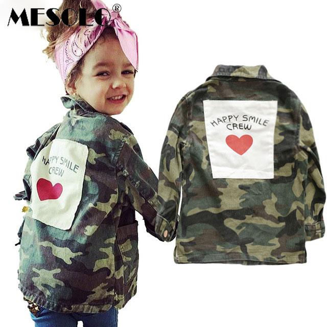 MESOLO Coats Boys Parkas Baby Jacket Outerwear Zipper Girls Winter Fashion Cotton Children