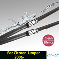 """Wiper blades for Citroen Jumper (from 2006 onwards) 26""""+22"""" fit push button type wiper arms only HY-011"""