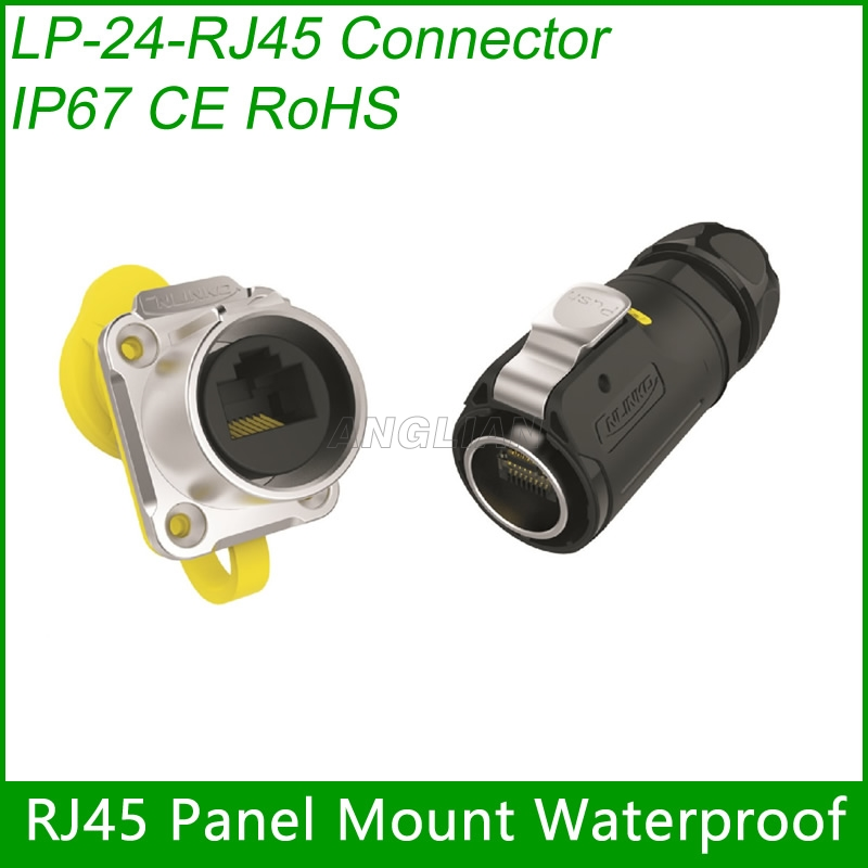 Assembly RJ45 CAT5E Female socket with Cover Waterproof RJ45 plug Cable Connector Cnlinko screw lock 1 unitAssembly RJ45 CAT5E Female socket with Cover Waterproof RJ45 plug Cable Connector Cnlinko screw lock 1 unit