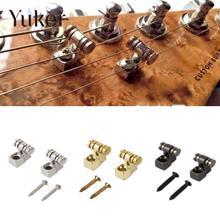 Yuker 2 шт. электрогитара s роликовая нить деревья фиксатор монтажный Дерево Руководство Электрические запасные части для гитары аксессуары