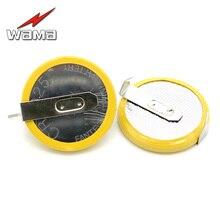 50pcs/lot Wama CR2025 Button Cell Batteries 3V 2 Feet Welding Solder Pins 150mAh Accessories 2025 Coin battery Customized Made